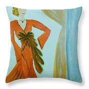 Nora-an Art Deco Lady Throw Pillow