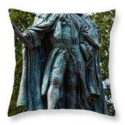 Norborne Berkeley - Baron De Botetourt Throw Pillow