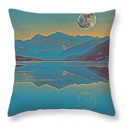 Nordic Landscape Throw Pillow