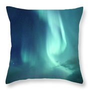 Nordic Winter Seascape Throw Pillow