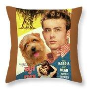 Norfolk Terrier Art Canvas Print - East Of Eden Movie Poster Throw Pillow