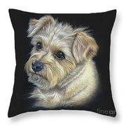 Norfolk Terrier 'hattie' Throw Pillow