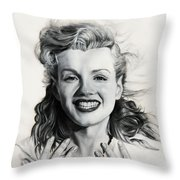 Norma Jean Painting Throw Pillow