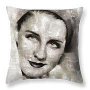 Norma Shearer, Actress Throw Pillow