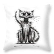 Norman The Cat Throw Pillow