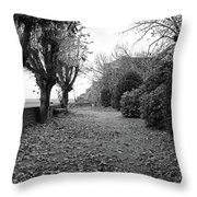 Normandy Black And White Throw Pillow