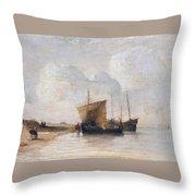 Normandy Coast Throw Pillow