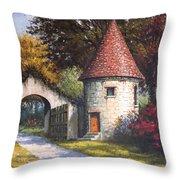 Normandy Garden Throw Pillow
