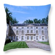 Normandy Manor House Throw Pillow