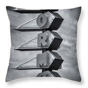 Norms In Los Angeles Throw Pillow