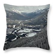 Norquay Banff Town Views Throw Pillow