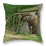 Rice Grist Mill II Throw Pillow