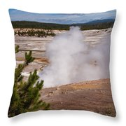 Norris Geyser Basin One Throw Pillow