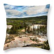 Norris Geyser Basin Throw Pillow