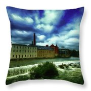 Norrkoping Waterfall Throw Pillow