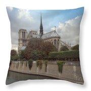 Norte Dame De Paris Throw Pillow