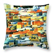 North African Townscape Throw Pillow by Robert Tyndall