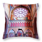 North Aisle - Sanctuary In Osijek Cathedral Throw Pillow
