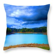 North Alder Lake Throw Pillow