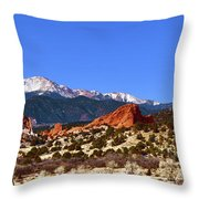 North And South Gateway Rock Throw Pillow
