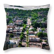 North Ave New Rochelle Throw Pillow