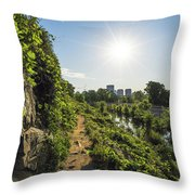North Bank Trail Cliff Throw Pillow