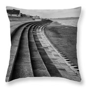 North Beach, Heacham, Norfolk, England Throw Pillow by John Edwards
