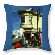 North Beach San Francisco Throw Pillow