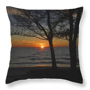 North Beach Sunset Throw Pillow