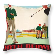 North Berwick, A London And North Eastern Railway Vintage Advertising Poster Throw Pillow