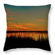 North Bridge Park Sunset Throw Pillow