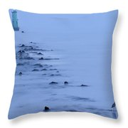 North Bull Lighthouse Dublin Throw Pillow