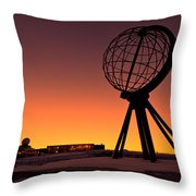 North Cape Norway At The Northernmost Point Of Europe Throw Pillow