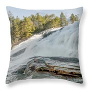 North Carolina - Dupont State Forest - Waterfall Collection Throw Pillow