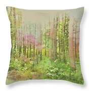 North Carolina Forest Throw Pillow