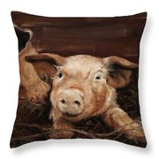 North Carolina Grown Throw Pillow by Diane Kraudelt