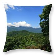North Carolina Mountains In The Summer Throw Pillow