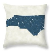 North Carolina Parks - V2 Throw Pillow