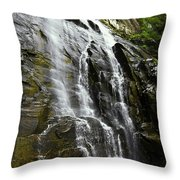 North Carolina Waterfall Hickory Nut Falls Photography  Throw Pillow