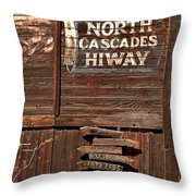 North Cascade Hiway Signs Throw Pillow