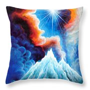 North Caucasus Mountains, Sunset. My Homeland Throw Pillow