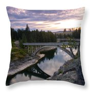 North Channel Bridge Throw Pillow