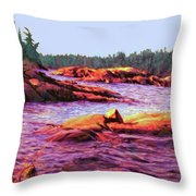 North Channel Islands Throw Pillow