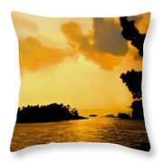 North Channel Sunset Throw Pillow
