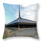North Christian Church, Columbus, Indiana Throw Pillow