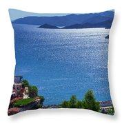 North Coast Of Crete In Bali Throw Pillow