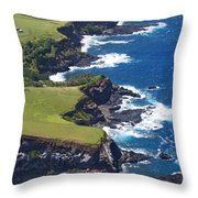 North Coast Of Maui Throw Pillow