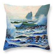 North Coast Surf Throw Pillow