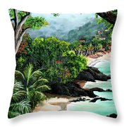North Coast Tobago Throw Pillow