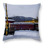 North Conway Nh Scenic Railroad Throw Pillow